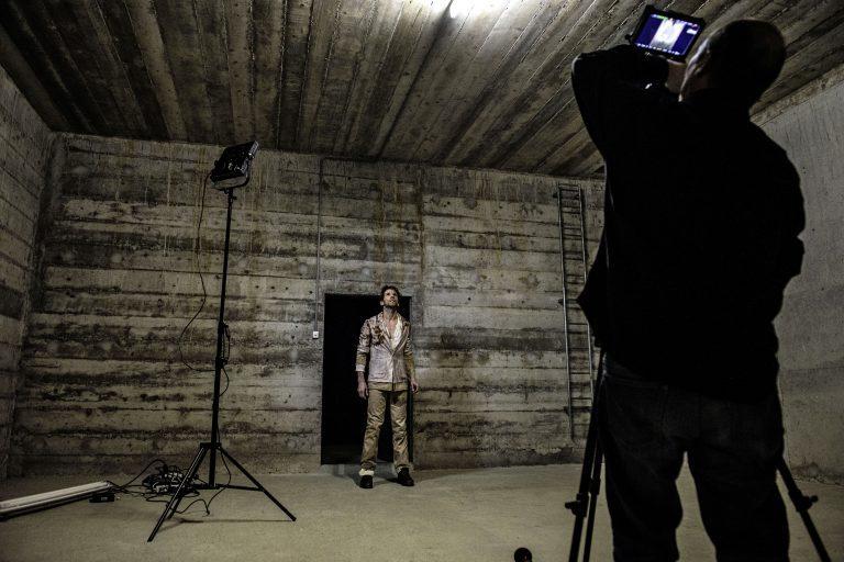 Shooting of the film by Pierre Yves Borgeaud for Gil Roman's Tombées de la dernière pluie